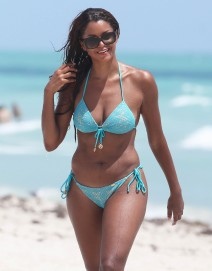 51837709 'Real Housewives Of Atlanta' star Claudia Jordan shows off her bikini body while enjoying a day on the beach in Miami, Florida on August 31, 2015. It is being reported that Claudia will be returning for 'RHOA' Season 8. **NO LATIN AMERICA/NO SPAIN/NO PORTUGAL** FameFlynet, Inc - Beverly Hills, CA, USA - +1 (818) 307-4813 RESTRICTIONS APPLY: SEE CAPTION FOR RESTRICTIONS