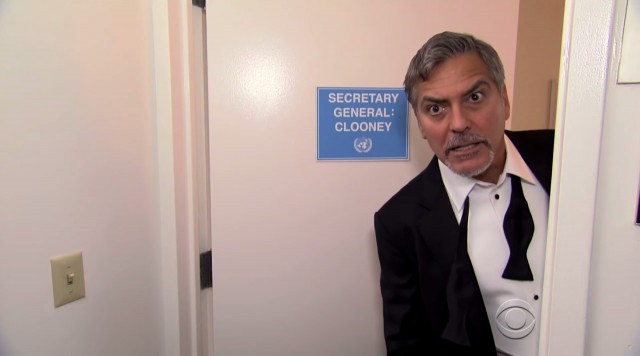 george clooney fake trailer for colbert