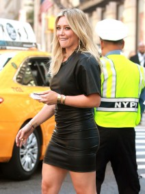 51858636 Actress and singer Hilary Duff is spotted on the set of the TV series 'Younger' filming in New York City, New York on September 23, 2015. The series tells the story of a single mother who is mistaken for younger than she really is, and decides to take the chance to reboot her career and her love life as a 26-year old. FameFlynet, Inc - Beverly Hills, CA, USA - +1 (818) 307-4813