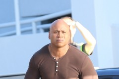 Exclusive... 51863510 Actor LL Cool J on the set of NCIS: Los Angeles, in Los Angeles on September 28, 2015. FameFlynet, Inc - Beverly Hills, CA, USA - +1 (818) 307-4813