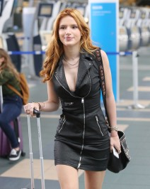 51874153 Birthday girl Bella Thorne and her 'Midnight Sun' co-star Patrick Schwarzenegger are spotted catching a flight out of Vancouver, Canada on October 8, 2015. Bella, who turned 18 today, is heading home to celebrate her birthday. FameFlynet, Inc - Beverly Hills, CA, USA - +1 (818) 307-4813