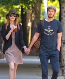 "51704814 ""Amazing Spider-man"" star Emma Stone and Andrew Garfield have taken a break in their relationship after dating over three years. The couple haven't been seen together since January, which has prompted many to speculate they may have split. Only time will tell if they'll split for good or work things out between them... File photos show the happy couple through the years. FameFlynet, Inc - Beverly Hills, CA, USA - +1 (818) 307-4813"