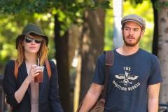 """51704814 """"Amazing Spider-man"""" star Emma Stone and Andrew Garfield have taken a break in their relationship after dating over three years. The couple haven't been seen together since January, which has prompted many to speculate they may have split. Only time will tell if they'll split for good or work things out between them... File photos show the happy couple through the years. FameFlynet, Inc - Beverly Hills, CA, USA - +1 (818) 307-4813"""