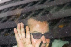 "51912004 Actor Charlie Sheen gives a peace sign while leaving his hotel in New York City, New York on November 18, 2015. Yesterday Charlie revealed that he is HIV-positive on 'The Today Show.' Sheen revealed that he doesn't know how he contracted the disease but told Matt Lauer, ""I was drinking way too much. I was making a lot of bad decisions."" FameFlynet, Inc - Beverly Hills, CA, USA - +1 (818) 307-4813"