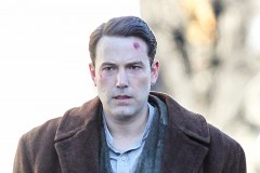 Ben Affleck On Set With A Large Cut And Bloody Hands