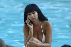 51903686 'Orange Is The New Black' actress Jackie Cruz and some friends are seen relaxing poolside in Miami, Florida on November 9, 2015. Jackie could be seen enjoying some drinks and chatting on the phone. FameFlynet, Inc - Beverly Hills, CA, USA - +1 (818) 307-4813