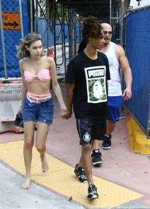51923023 Actor Jaden Smith and his girlfriend Sarah Snyder out and about in Miami, Florida on December 06, 2015. FameFlynet, Inc - Beverly Hills, CA, USA - +1 (818) 307-4813