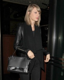 "51911487 ""Bad Blood"" singer Taylor Swift dines out at Palm Restaurant in Beverly Hills, California on November 17, 2015. Taylor was rumored to be eating dinner with boyfriend Calvin Harris, though he likely left through the back door. FameFlynet, Inc - Beverly Hills, CA, USA - +1 (818) 307-4813"