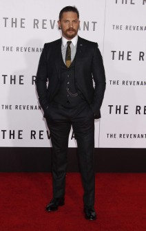 51932051 Celebrities at the Los Angeles premiere of 'The Revenant' at the TCL Chinese Theatre in Hollywood, California on December 16, 2015. Celebrities at the Los Angeles premiere of 'The Revenant' at the TCL Chinese Theatre in Hollywood, California on December 16, 2015.  Pictured: Tom Hardy FameFlynet, Inc - Beverly Hills, CA, USA - +1 (310) 505-9876