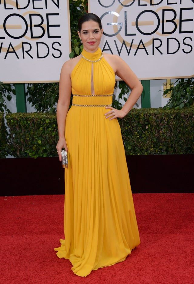 51943619 Celebrities arriving at the 73rd Annual Golden Globe Awards at The Beverly Hilton Hotel in Beverly Hills, California on January 10, 2016. Celebrities arriving at the 73rd Annual Golden Globe Awards at The Beverly Hilton Hotel in Beverly Hills, California on January 10, 2016. Pictured: America Ferrera FameFlynet, Inc - Beverly Hills, CA, USA - +1 (310) 505-9876 RESTRICTIONS APPLY: NO FRANCE