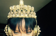 Rihanna with Gold crown