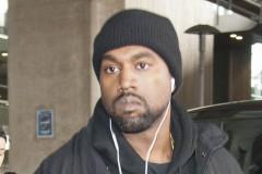 Kanye West Paris Airport
