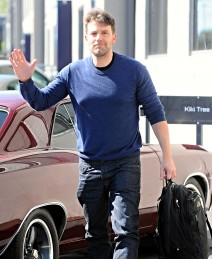 51974746 Actor Ben Affleck is all smiles as she stops by a business meeting in Santa Monica, California on February 18, 2016. Ben just returned from a trip to Montana with ex-wife Jennifer Garner, Tom Brady and his wife Gisele Bundchen. FameFlynet, Inc - Beverly Hills, CA, USA - +1 (310) 505-9876
