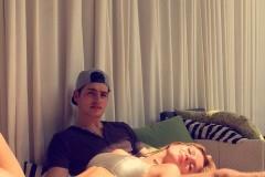 Bella Thorne on Boyfriend Gregg Sulkin's Lap