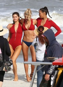 Stars On The Set Of 'Baywatch'