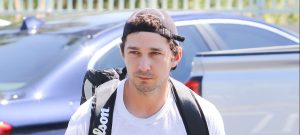 52014060 'Fury' actor Shia LaBeouf was spotted heading to tennis in Studio City, California on April 5, 2016. Shia's uncle recently was ordered to pay back $800,000 that Shia had loaned him in 2009 for business expenses. (People) FameFlynet, Inc - Beverly Hills, CA, USA - +1 (310) 505-9876
