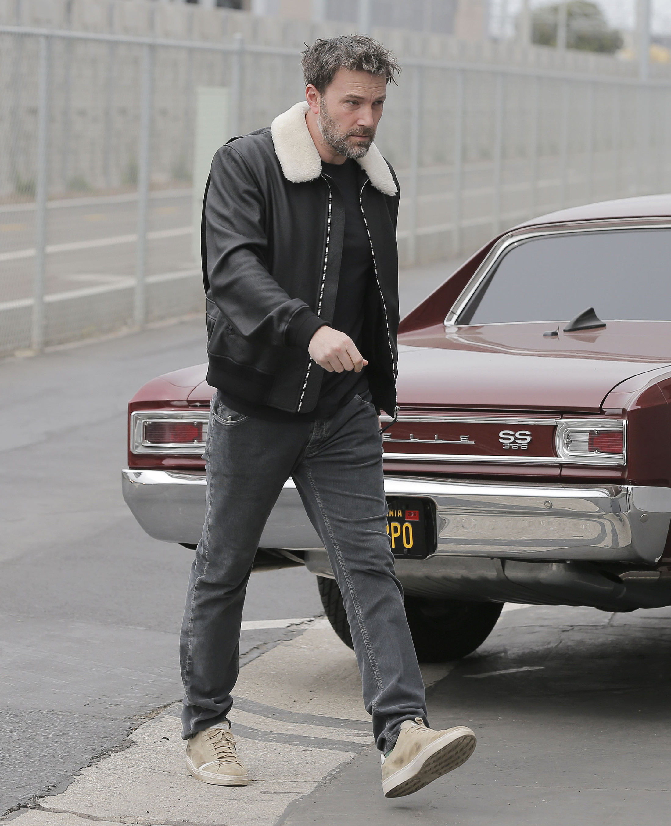 Ben Affleck Goes To An Office Building In Santa Monica