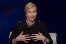 52009085 Actress Charlize Theron attends 'Che Tempo Che Fa' Tv Show airing on April 3rd in Milan, Italy. FameFlynet, Inc - Beverly Hills, CA, USA - +1 (310) 505-9876 RESTRICTIONS APPLY: USA/AUSTRALIA ONLY