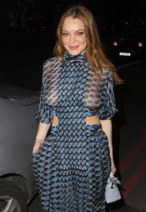 Lindsay Lohan Rocks A See Through Dress At The 2016 Asian Awards