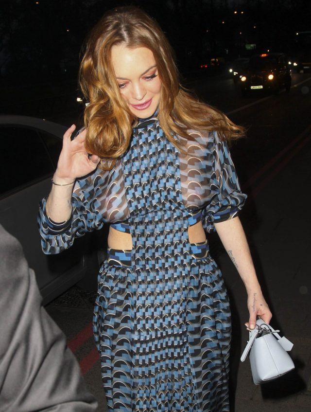 Lindsay Lohan Rocks A See Through Dress At The 2016 Asian ... Lindsay Lohan Islam