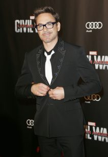 52028310 Celebrities attend 'Captain America: Civil War' Premiere at Le Grand Rex on April 18, 2016 in Paris, France. Celebrities attend 'Captain America: Civil War' Premiere at Le Grand Rex on April 18, 2016 in Paris, France. Pictured: Robert Downey Jr. FameFlynet, Inc - Beverly Hills, CA, USA - +1 (310) 505-9876 RESTRICTIONS APPLY: USA ONLY