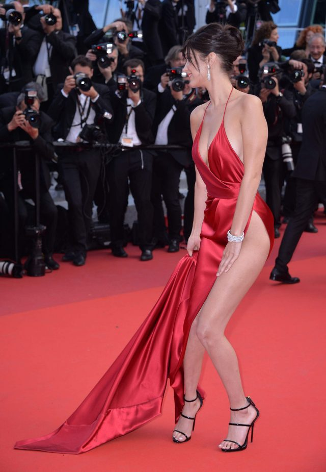 Bella Hadid slit at the 69th annual Cannes Film Festival