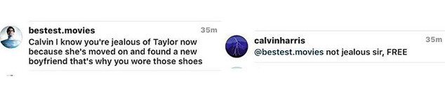 Calvin Harris Instagram Comments on Taylor Swift 03
