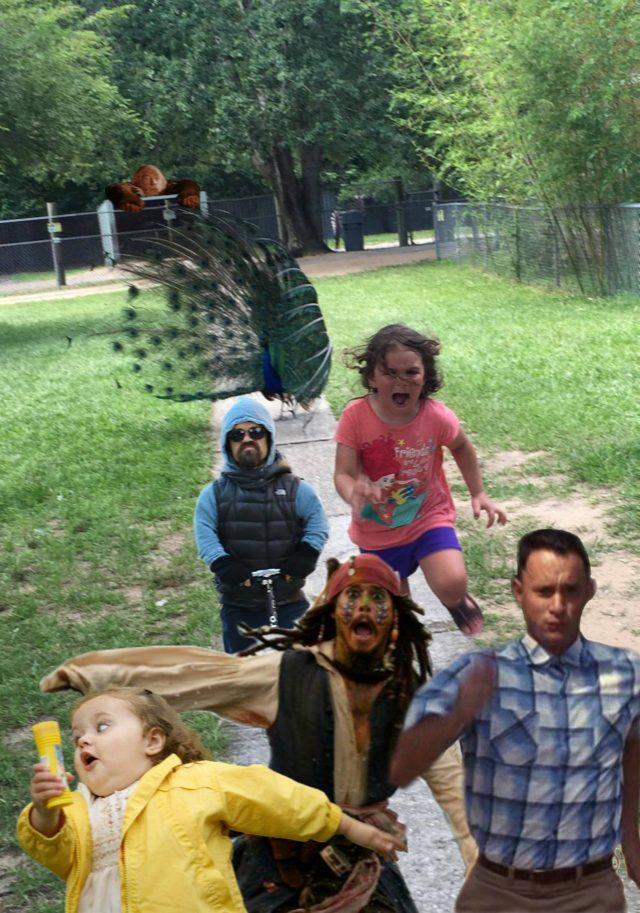Girl Running from Peacock PS Battle on Reddit 04
