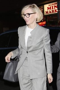 52071896 Australian actress Cate Blanchett spotted dining out in Soho, London, UK. Cate, who is playing the role of the villain Hela in the upcoming film 'Thor: Ragnarok', was looking smart in a grey pantsuit. FameFlynet, Inc - Beverly Hills, CA, USA - +1 (310) 505-9876 RESTRICTIONS APPLY: USA/CHINA ONLY