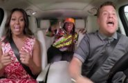 Carpool Karaoke with Michelle Obama James Corden Missy Eliott