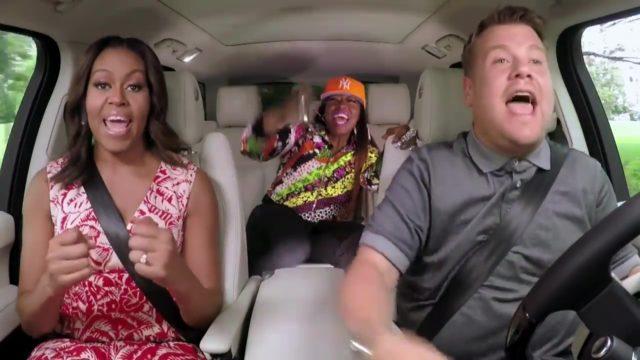 Carpool Karaoke with Michelle Obama James Corden Missy Eliott