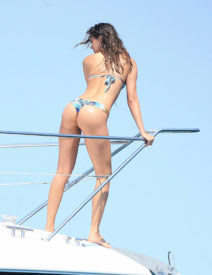 52134294 NBA star Joakim Noah is spotted enjoying a day on a luxury yacht in Ibiza, Spain with his friends some bikini clad ladies on July 27, 2016. At one point Joakim, who was recently traded to the New York Knicks, could be seen packing on the PDA with a mystery woman. FameFlynet, Inc - Beverly Hills, CA, USA - +1 (310) 505-9876 RESTRICTIONS APPLY: USA/AUSTRALIA ONLY