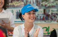 52079205 UNICEF Goodwill Ambassador Katy Perry visits the children at the Quang Son Daycare Center and the Phuoc Thanh Commune Health Centre in Ninh Thuan Province on May 27, 2016. The daycare center serves children with disabilities, as well as children who are ethnic minorities in the area. FameFlynet, Inc - Beverly Hills, CA, USA - +1 (310) 505-9876 RESTRICTIONS APPLY: USA ONLY