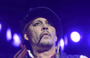 52083975 Troubled actor Johnny Depp performs with his band Hollywood Vampires at their final European concert on their tour on June 6, 2016 in Bucharest, Romania. Johnny's pal Tim Burton attended the concert to support his friend as he performed with Alice Cooper and Joe Perry. FameFlynet, Inc - Beverly Hills, CA, USA - +1 (310) 505-9876 RESTRICTIONS APPLY: USA ONLY