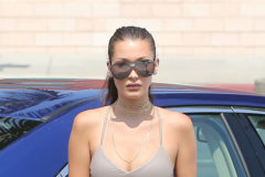 52136224 Model Bella Hadid shops at Pavilions in Beverly Hills, California. Bella could be seen sweating through her tight pants near her crotch. FameFlynet, Inc - Beverly Hills, CA, USA - +1 (310) 505-9876