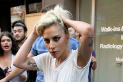 52176696 Lady Gaga looks very very disgruntled while she was out and about in New York City, New York on September 16, 2016.  She stopped to meet with fans, take photos, and sign posters.  She wore her hair a bit messy, which correlated with her style for the day. FameFlynet, Inc - Beverly Hills, CA, USA - +1 (310) 505-9876