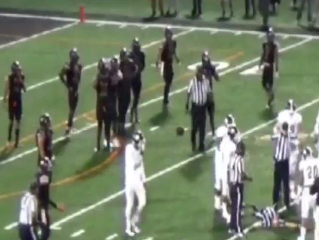 College football player arrested after punching referee