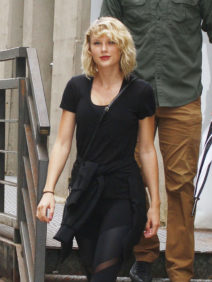 52166497 Newly single singer Taylor Swift wears an all black ensemble for the second day in a row while stepping out with her security in New York City, New York on September 7, 2016. Taylor could be in mourning after recently calling it quits with British actor Tom Hiddleston. FameFlynet, Inc - Beverly Hills, CA, USA - +1 (310) 505-9876