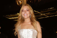 52204284 Lindsay Lohan attends the opening of her new club 'Lohan' in Greece on October 15, 2016.  The grand opening featured people in LED lighted suits, classy dresses and Lindsay Lohan blowing kisses to the camera. The group appeared to be thoroughly enjoying their time out. At one point, Lindsay was being interviewed by a slew of reporters. FameFlynet, Inc - Beverly Hills, CA, USA - +1 (310) 505-9876 RESTRICTIONS APPLY: NO GREECE