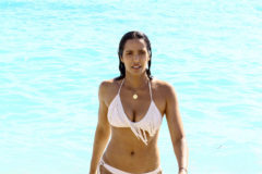52236301 'Top Chef' actress Padma Lakshmi spends her day in the ocean along with her daughter Krishna in Miami, Florida on November 19, 2016.  The two enjoyed splashing around in the water and then took some time to relax in the sun. FameFlynet, Inc - Beverly Hills, CA, USA - +1 (310) 505-9876