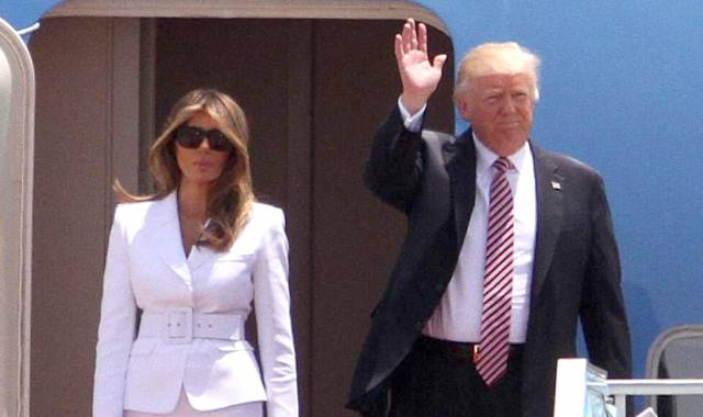 Melania Slaps Away Donald's Pussy Fingers, Somebody Save Her