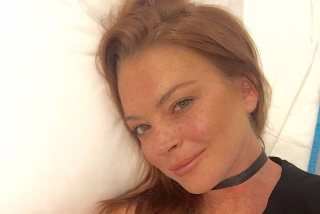 Lindsay Lohan Got Bit by a Snake the Other Day