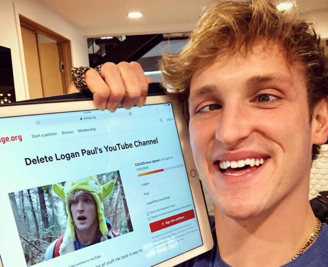 Logan Paul: YouTube suspends star's adverts over 'potentially damaging' videos