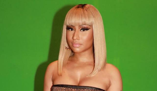 Nicki Minaj Bags and Bangs Eminem
