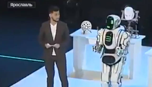 Russia Rolled out a 'High-Tech Robot' That Turned Out to Be a Guy in a Rented Costume
